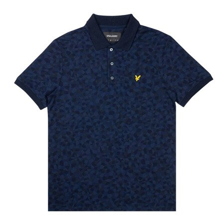 Lyle & Scott Geo Print Polo Shirt