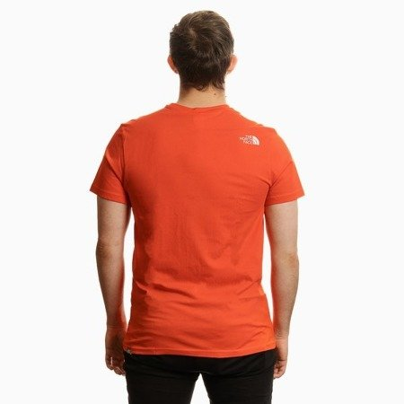 THE NORTH FACE FACE SIMPLE DOME T-SHIRT ORANGE