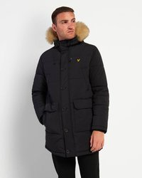 LYLE & SCOTT HEAVYWEIGHT LONGLINE PUFFER JACKET BLACK