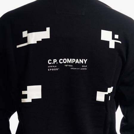 CP COMPANY CREWNECK COTTON FLEECE BLACK