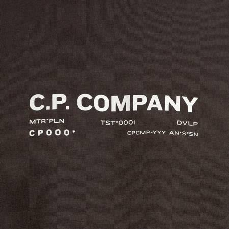 CP COMPANY T-SHIRT SHORT SLEEVE JERSEY 24/1 DARK GREEN