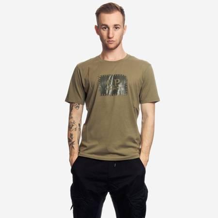 CP COMPANY T-SHIRT SHORT SLEEVE JERSEY 30/1 MILITARY GREEN