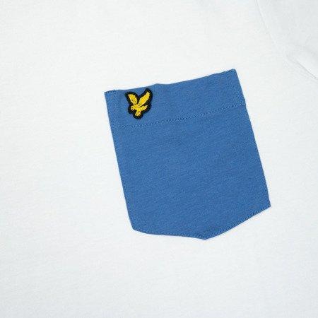 LYLE&SCOTT CONTRAST POCKET T-SHIRT WHITE/LAPIS BLUE