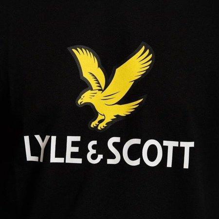 LYLE&SCOTT LOGO T-SHIRT JET BLACK