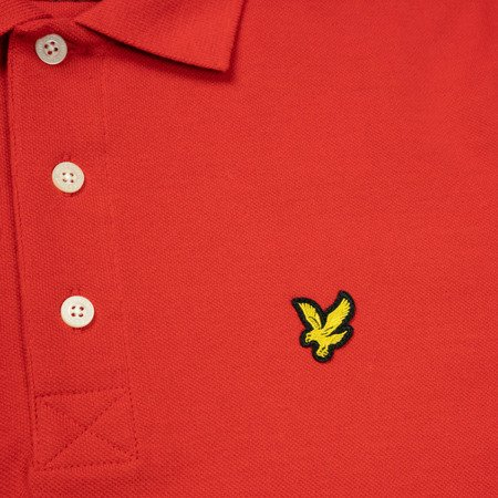 LYLE&SCOTT POLO SHIRT GRENADINE RED