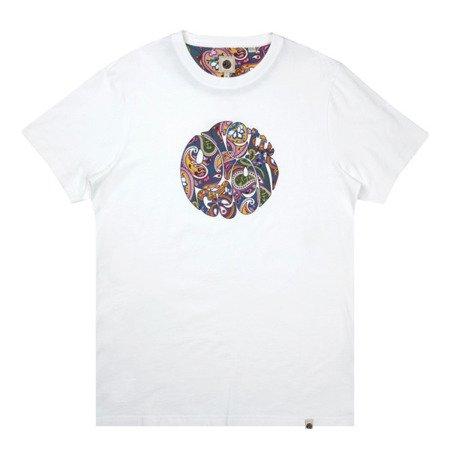 Pretty Green Mens Paisley Print Logo T-Shirt